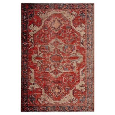 Jaipur Medallion Indoor Outdoor 8 10 X 12 Area Rug In Red Red