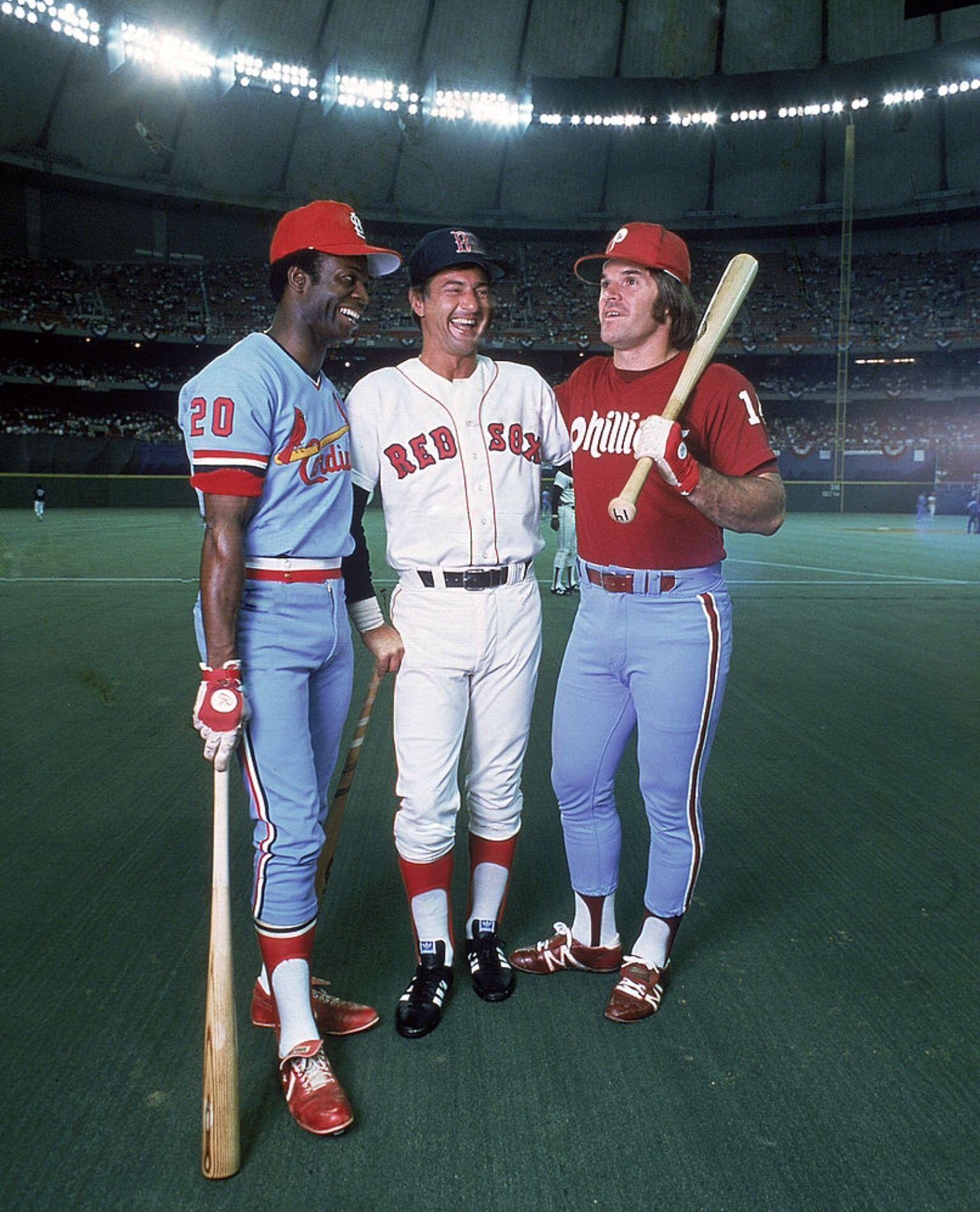 1979 All Star Game Lou Brock Carl Yaztremski Pete Rose Pete Rose Carl Yastrzemski Baseball Star