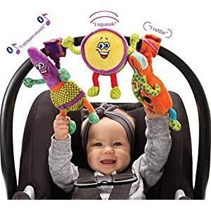 Lil' Jammerz Baby Music Toys for Car Seat or Stroller: Includes a Bluetooth Speaker, Download...  #Baby #Bluetooth #car #download #Includes #Jammerz #Lil #Music #seat #Speaker #stroller #toys