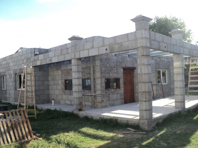 Construccion De Viviendas Industrializadas Con Bloques De Concreto Construcción De Viviendas Casas De Concreto Casas De Adobe