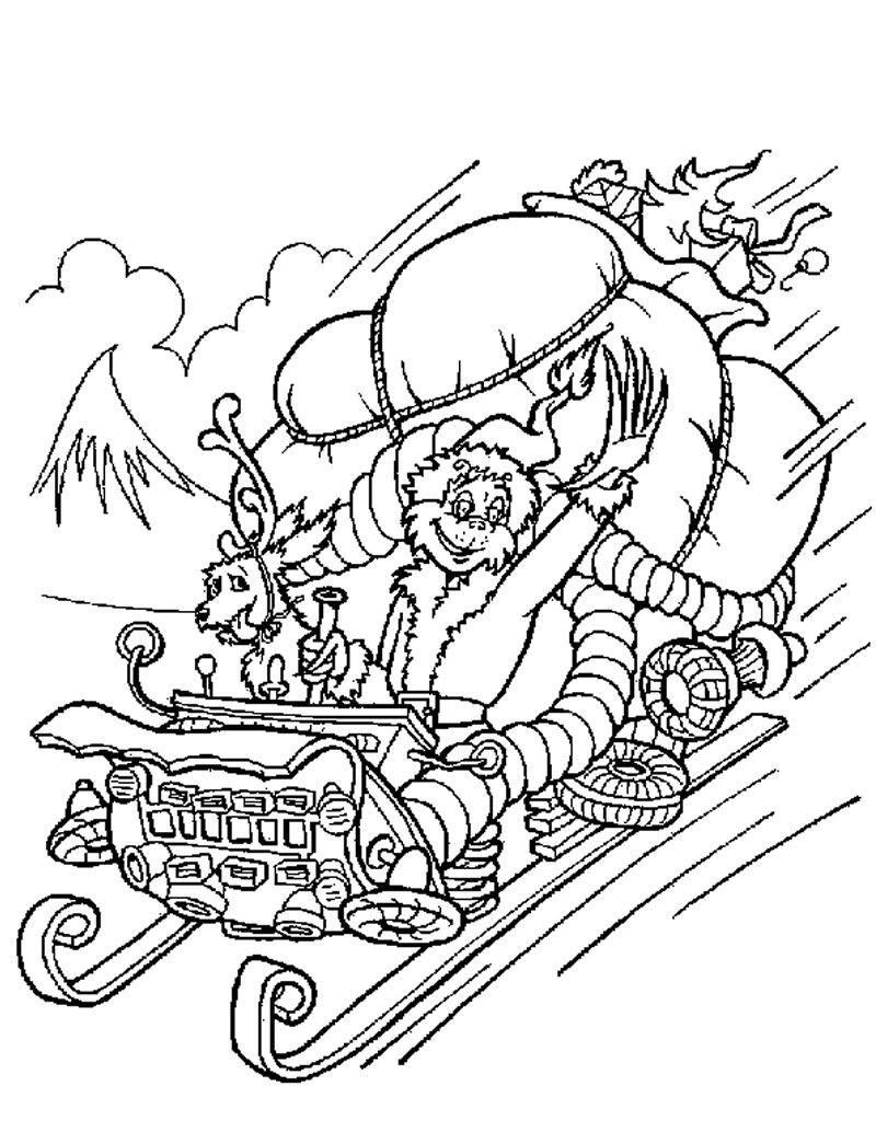 christmas coloring pages |  grinch stole christmas coloring pages