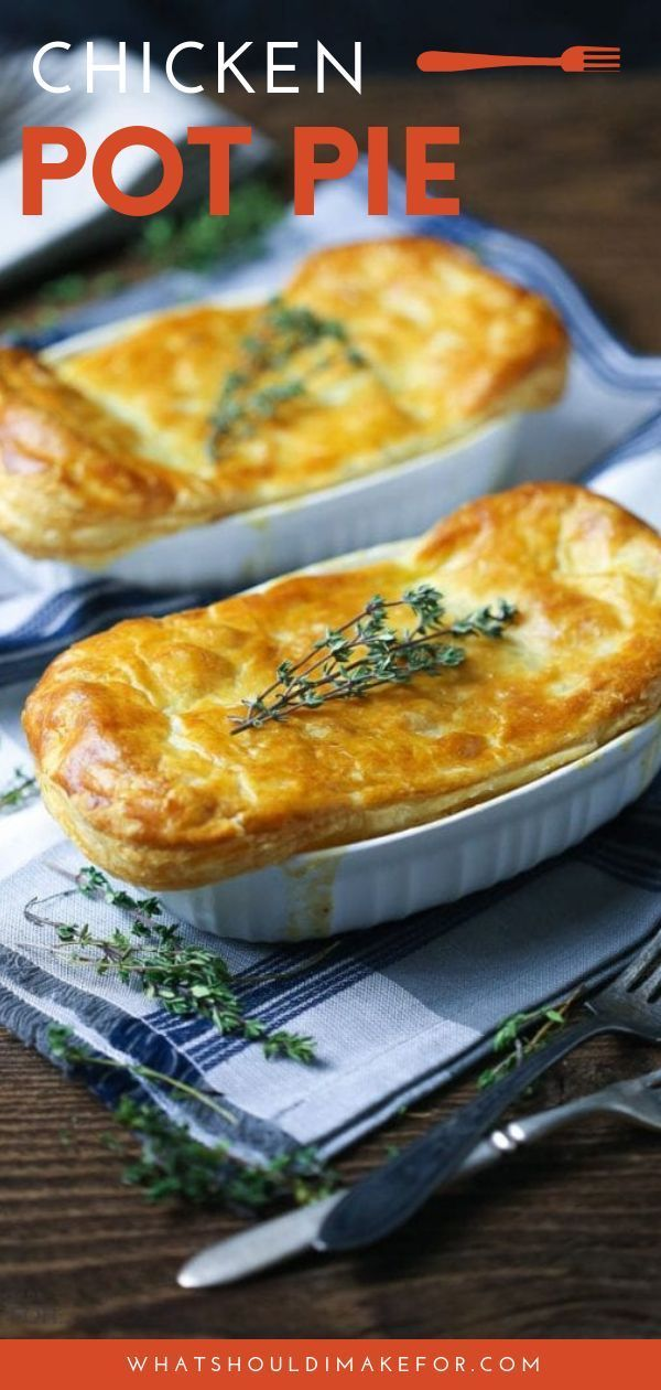 Easy Individual Chicken Pot Pie - What Should I Make For...