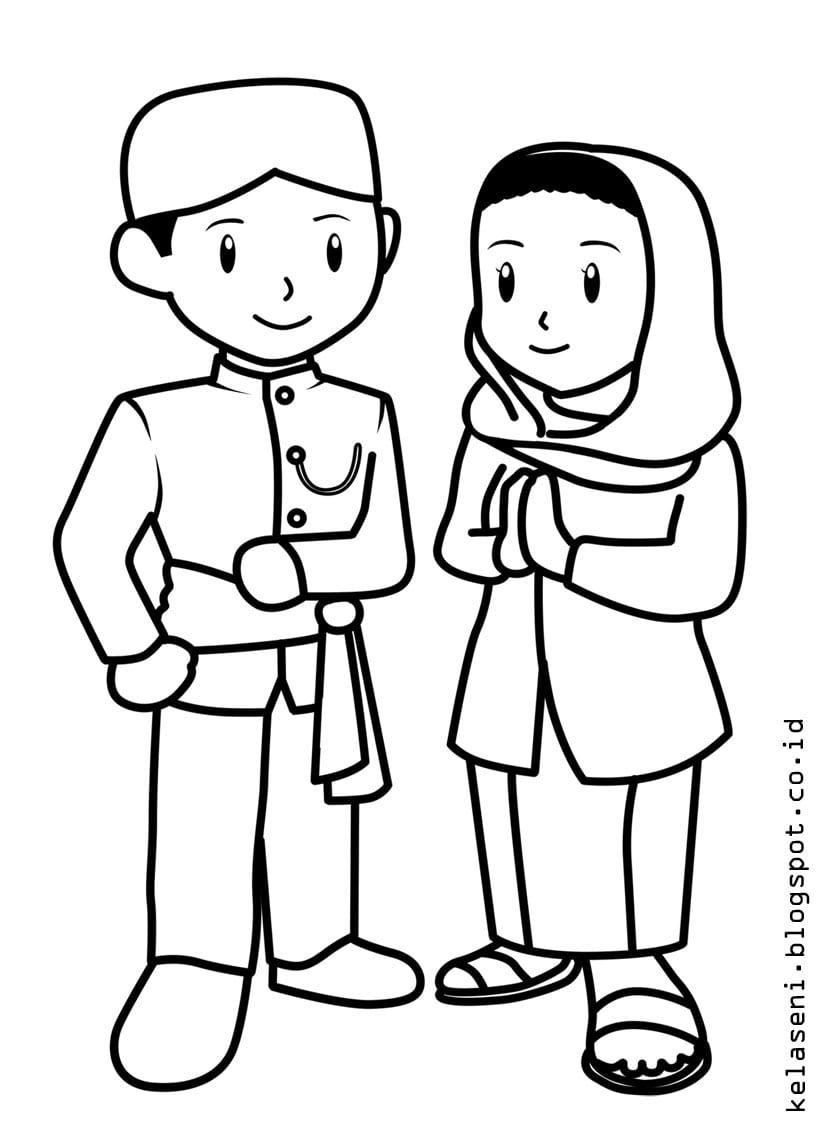 Sketsa Gambar Pakaian Adat Jawa Tengah