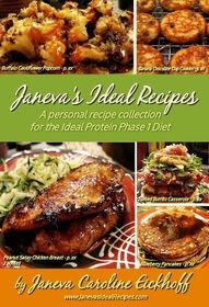 You have got to get this cookbook!!!! I have some on hand to help with Ideal Protein success for my clients!!! I so highly recommend getting this cookbook! I have personally tried many of the recipes and all of my family loves them. Janeva's Ideal Recipes Cookbook for the Ideal Protein Diet Phase 1 #idealproteinrecipesphase1dinner