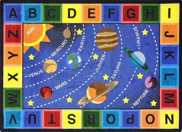 alphabet area rug classroom
