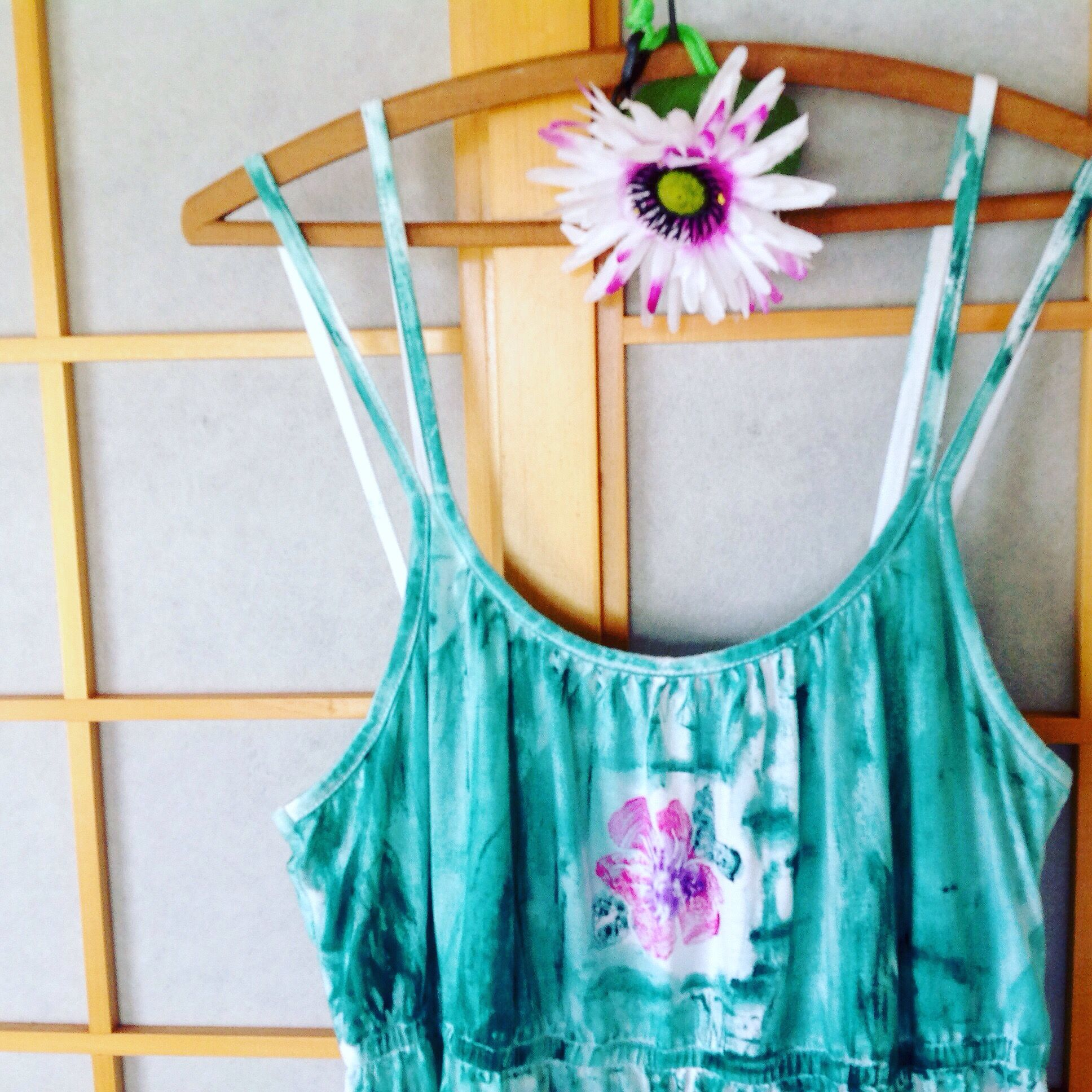 Hand painted maxi dress, beach wedding dress from Kaua'i