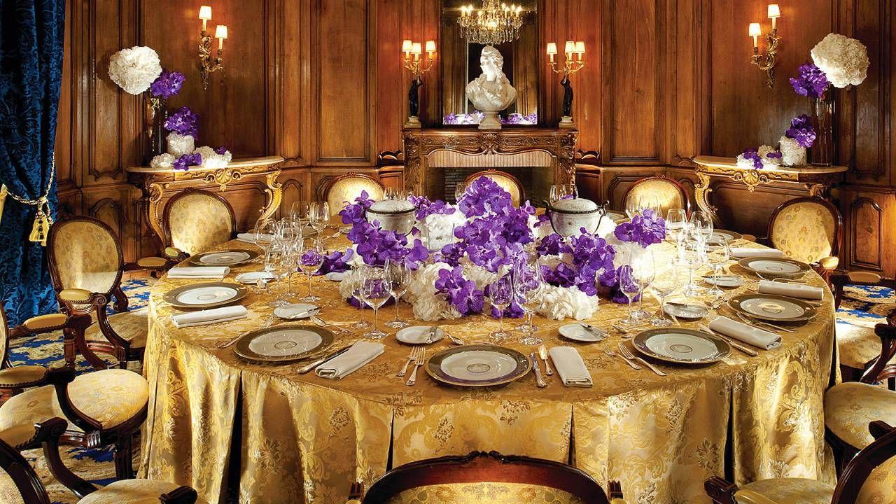 Four Seasons Hotel George V Paris  Salon Regence  Wedding Party Dinner