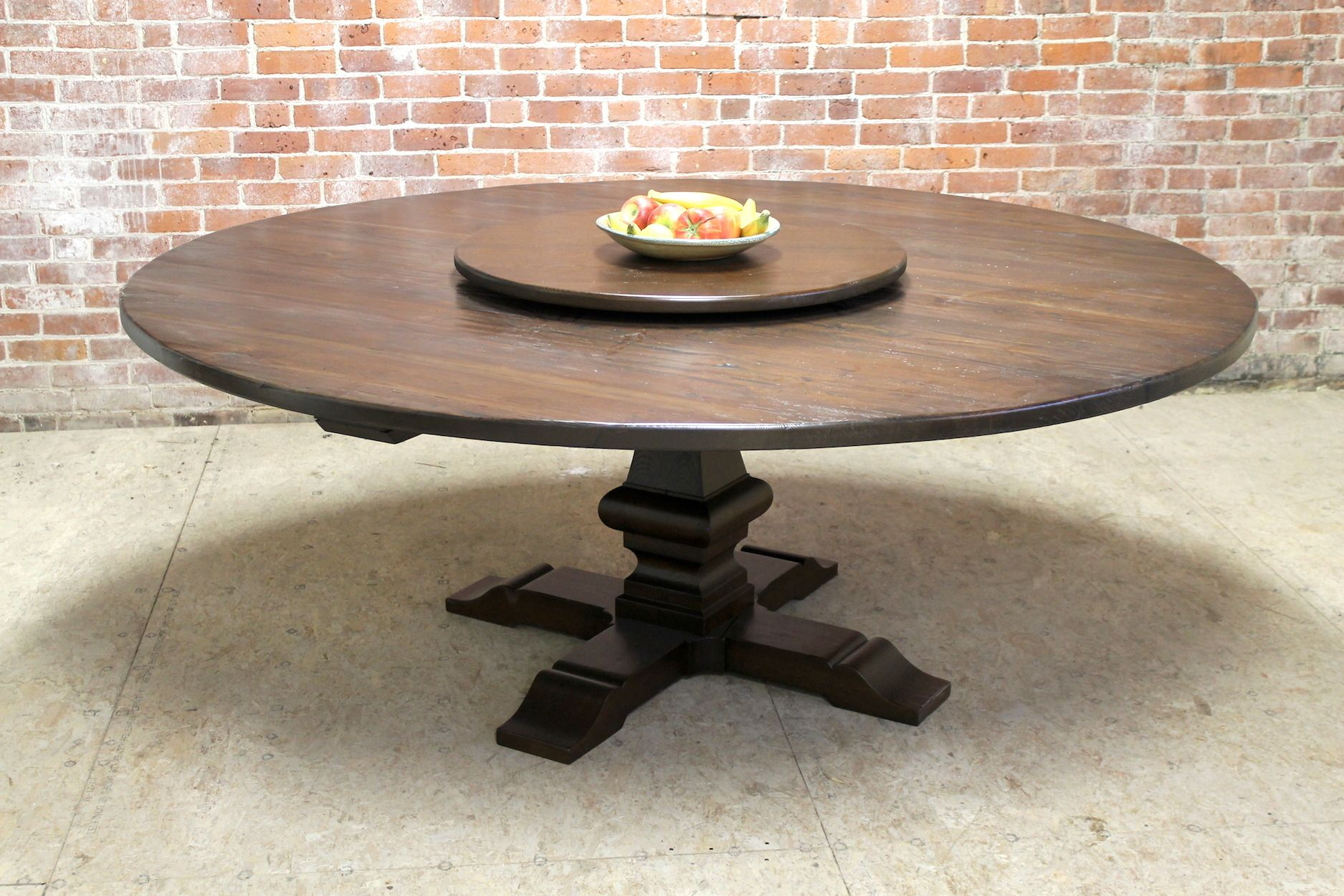 80 Round Farm Table With Venetian Pedestal Rustic Decor