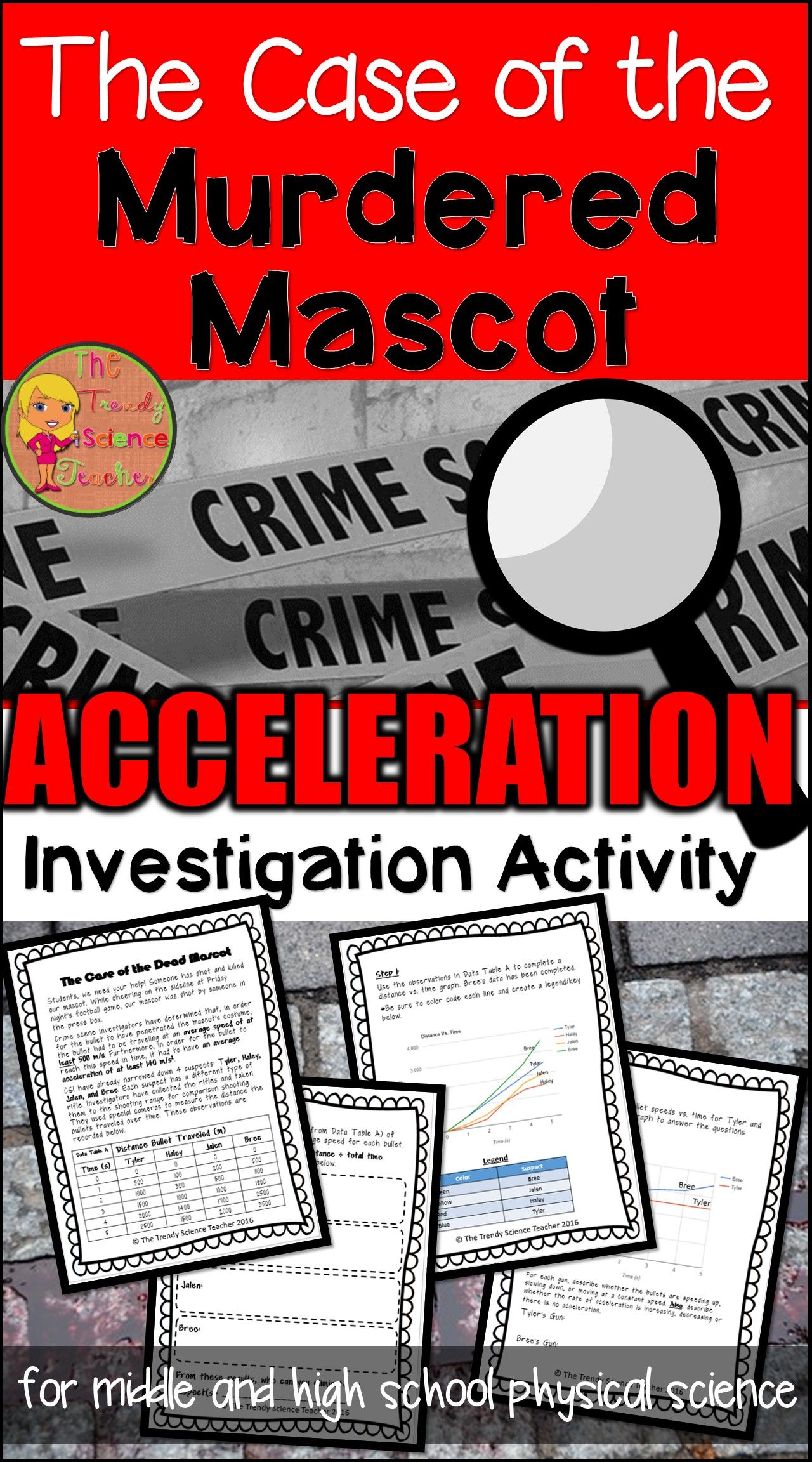 Speed Amp Acceleration Activity The Case Of The Murdered