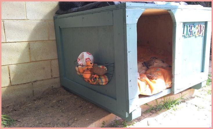 basket and crate – Hundezwinger, den wir aus einer Schichtholzkiste von meinen… – debbie