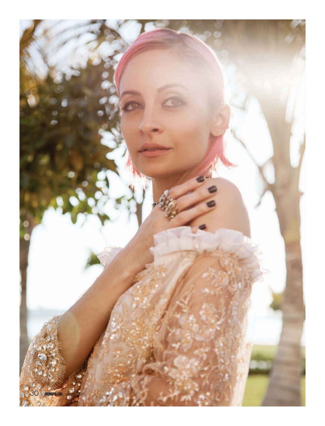 Nicole Richie Cosmopolitan Middle East March 2015 (With