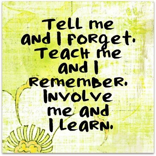 I Am All For Hands On Learning I Hope That I Can Teach My