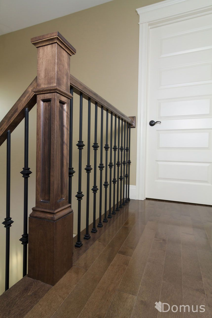 Best Staircase With Black Metal Spindles And Collars Interior 400 x 300