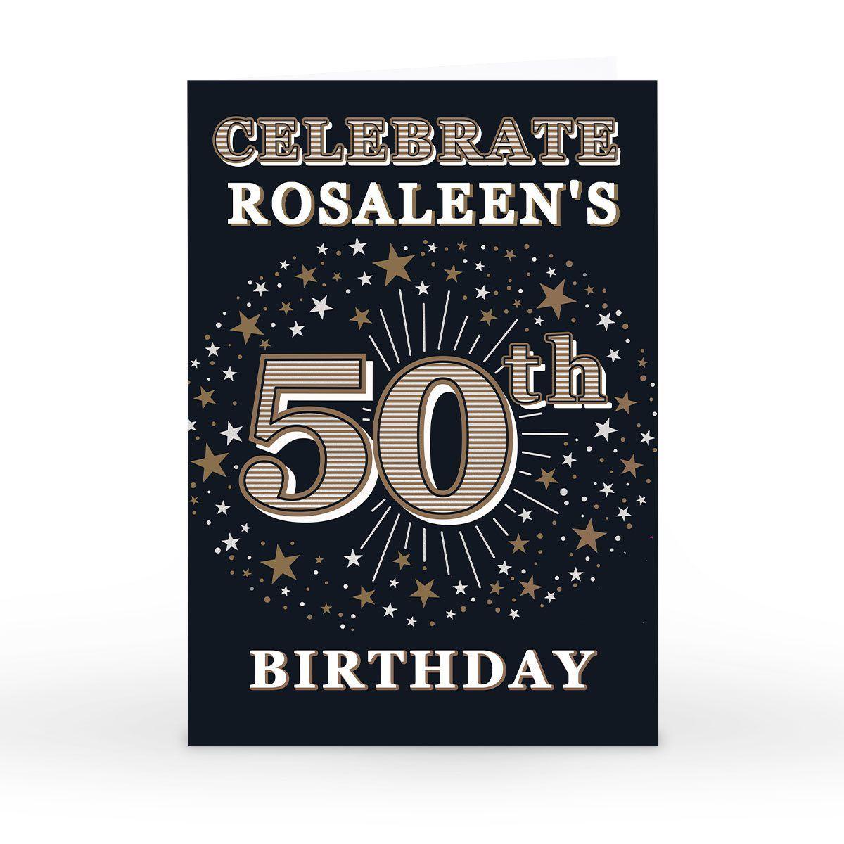 Einladungskarten Einladung Zum 50 Geburtstag Selbst Gestalten