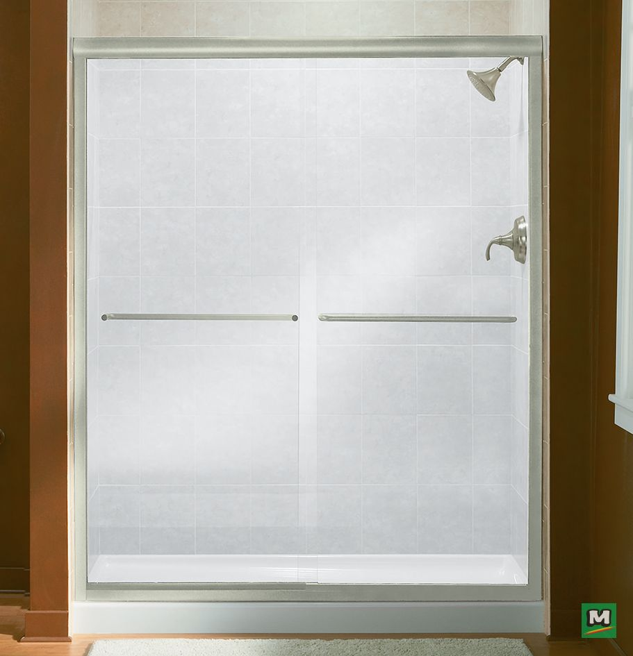 The Sterling Finesse Frameless By Pass Shower Door Offers Long