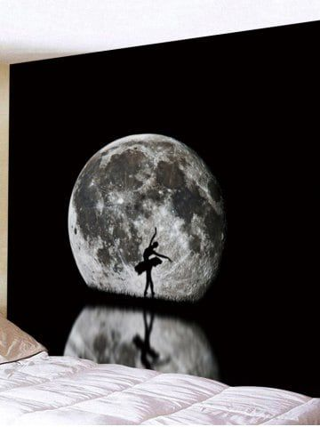 dancer and reflection pattern decorative wall tapestry on walls coveralls website id=86435