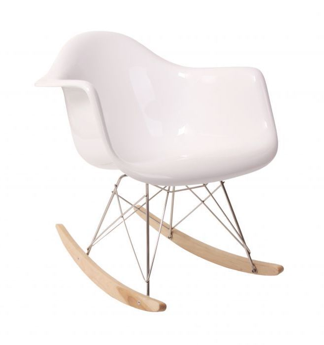 Pleasant Replica Eames Rar Rocker In Fibreglass Maple Matt White Gmtry Best Dining Table And Chair Ideas Images Gmtryco