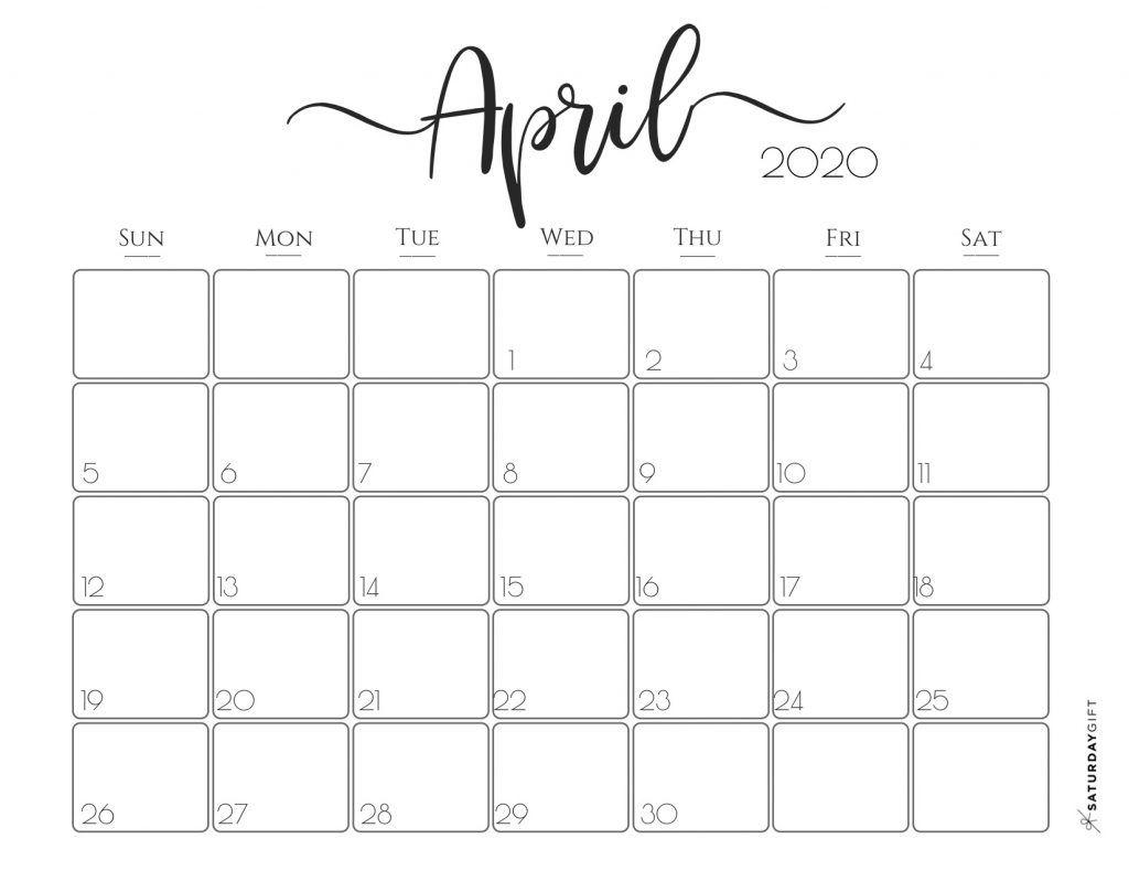 Elegant 2020 Calendar Free Printables Monthly Calendar