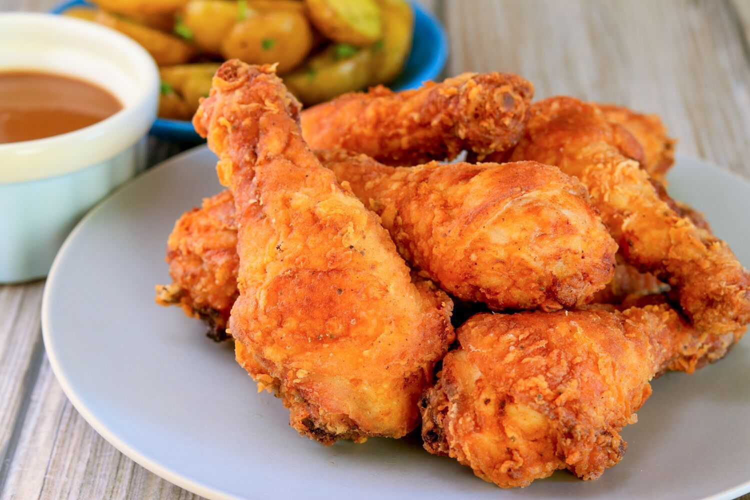 Get The Party Started With These Spicy Fried Chicken Drumsticks Recipe Drumstick Recipes Chicken Drumstick Recipes Spicy Fried Chicken