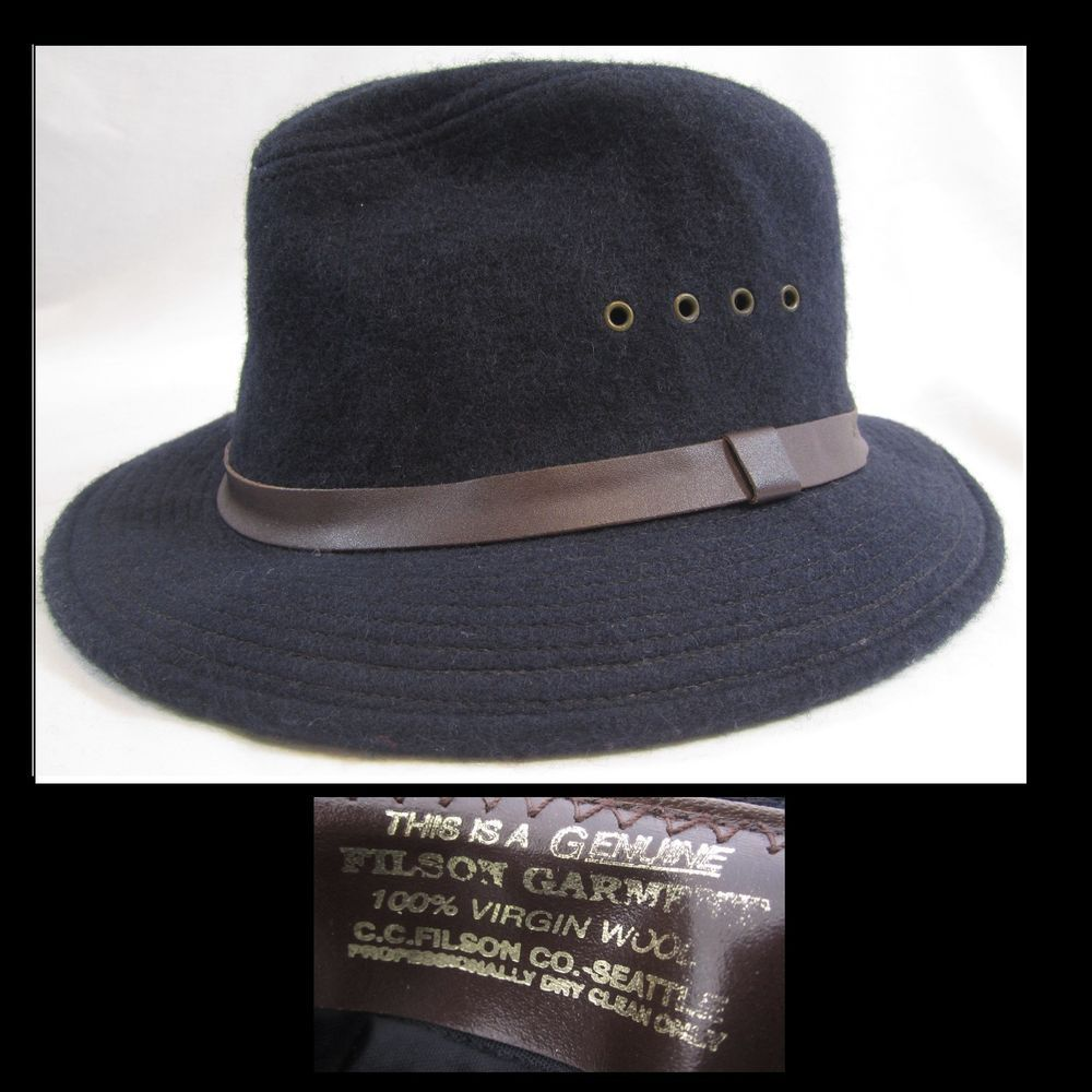 Vintage Filson Wool Hat Packer Cowboy Indiana Jones Safari Mens Large   Filson  CowboyWestern d26b58ccce8