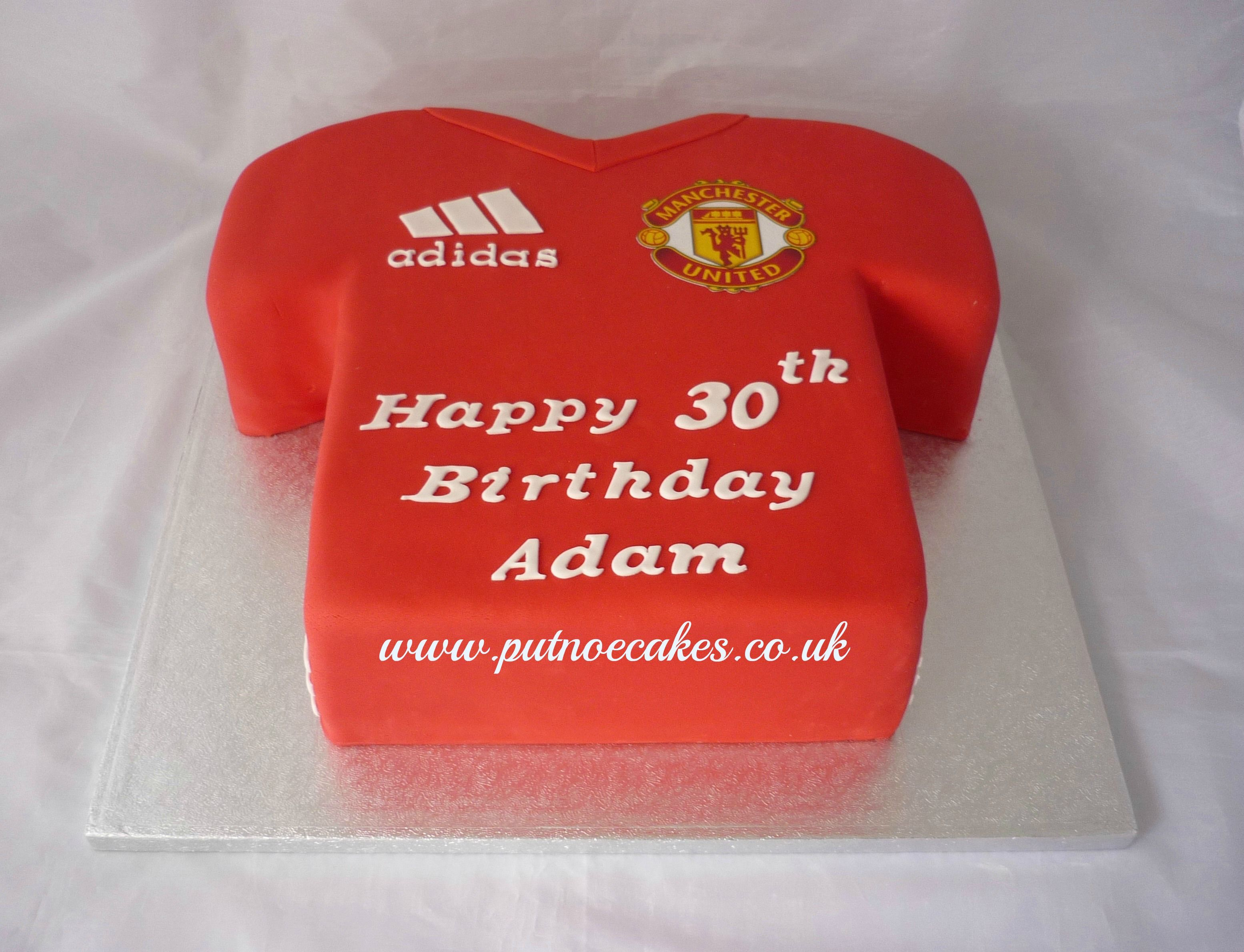 Manchester United Football Club T Shirt Cake Sweet Delights Bible Cake Birthday Cakes For Men