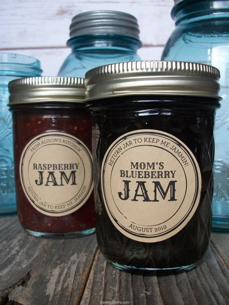 Custom kraft apothecary canning labels canning jar