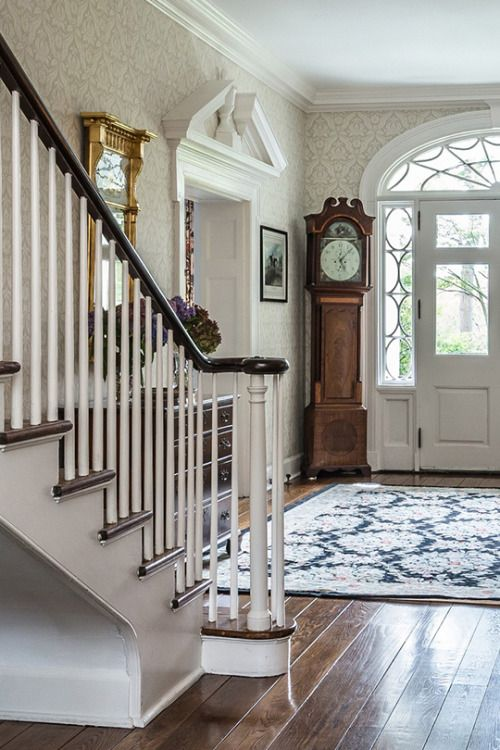 Splendor in the south edwardian staircase hallway architecture georgian style homes also no place like home pinterest foyer rh
