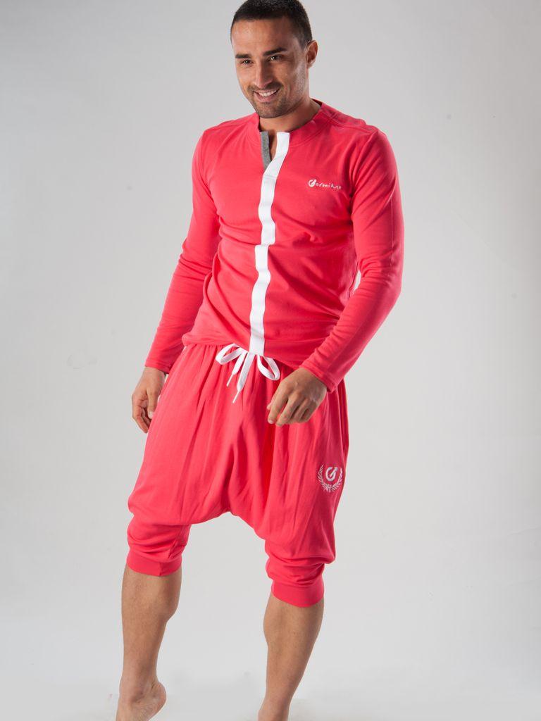 tenue de détente sarouel rose géronimo www.romeo-lingeriemasculine.com/homewear-tenue-interieur-pyjama-homme/tenues-de-detente/tenue-de-detente-sarouel-geronimo.html