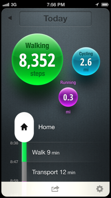 Moves, iPhone App Automatically Tracks Your Exercise