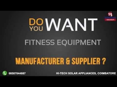 Fitness Equipment By Hi Tech Solar Appliances Coimbatore No Equipment Workout Solar Fitness