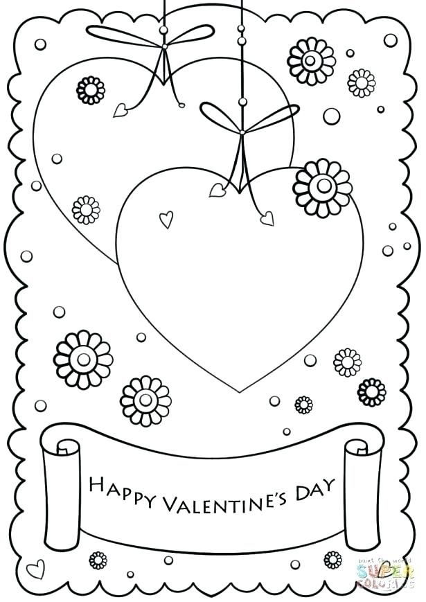 Happy Valentines Card Printable Valentines Day Coloring Page Valentine Coloring Pages Valentine Coloring