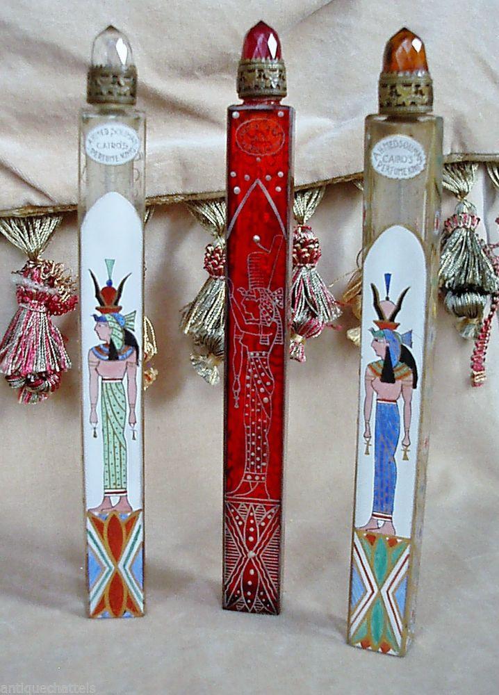 AHMED SOLIMAN ENAMEL & GLASS SCENT BOTTLE: Bohemian Cranberry Glass Scent Bottle