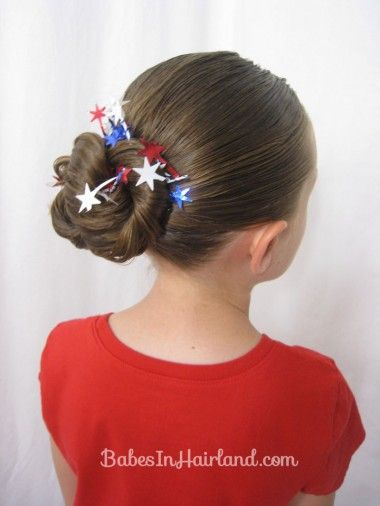 Patriotic Hairstyles from BabesInHairland.com #hairstyle #4thofjuly #redwhiteandblue #patriotic #july4th