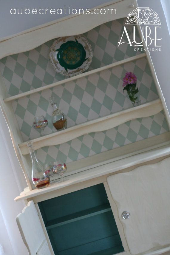 Vaisselier De Style Colonial Peint Par Aubedesign Sur Etsy 538 00 Avec Images Vaisselier Peint Meuble Meuble Maison