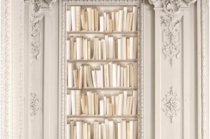 papier peint biblioth que ivoire 5 5 1 avis trompe l. Black Bedroom Furniture Sets. Home Design Ideas