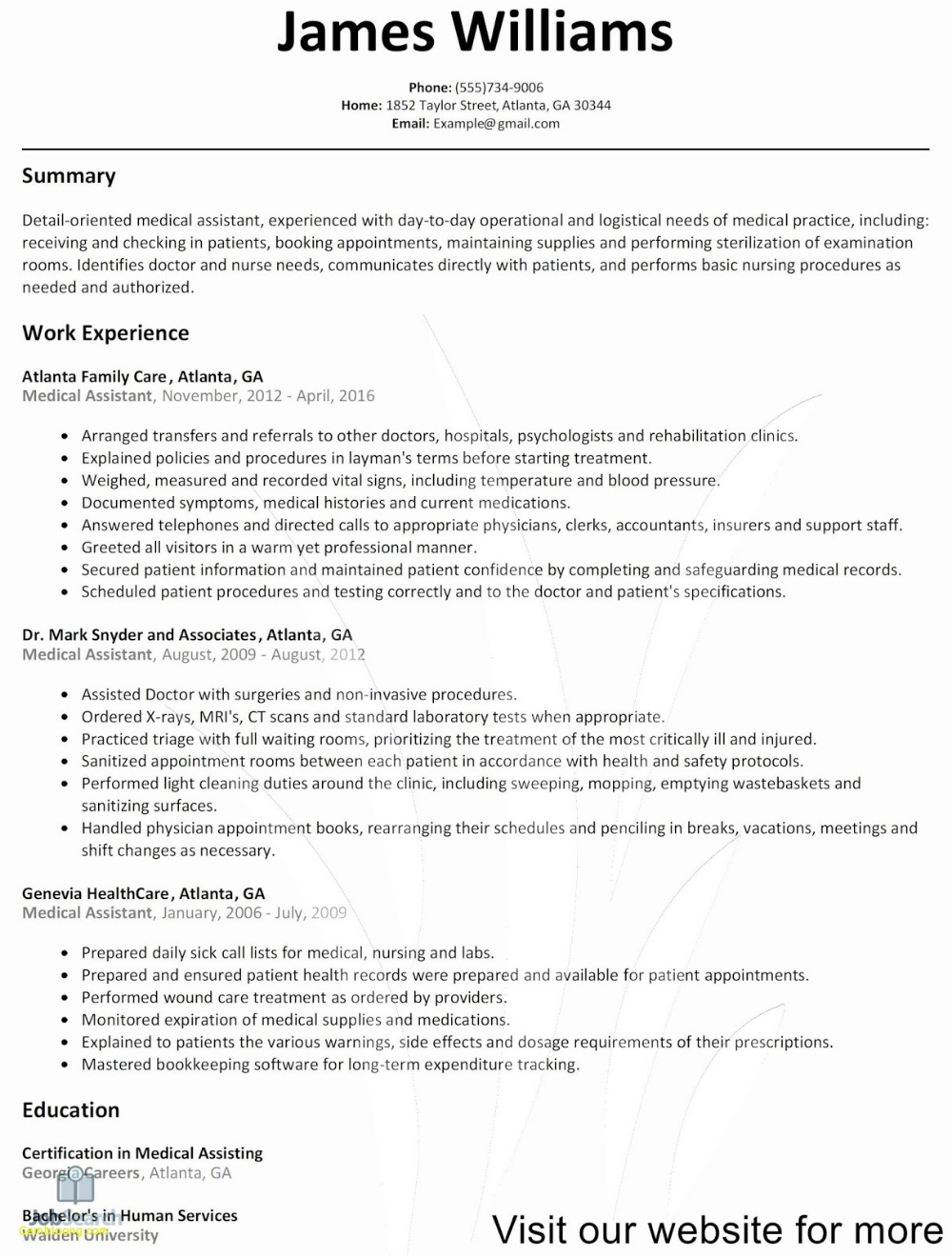 Healthcare Resume Templates 2020 healthcare resume