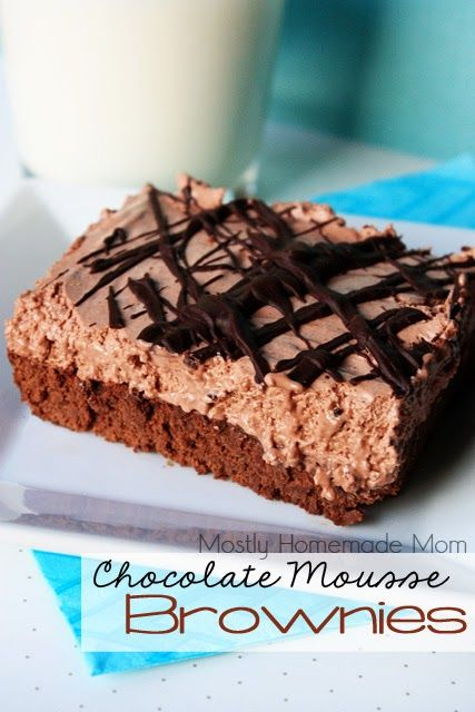 Photo of Chocolate Mousse Brownies – Mostly Homemade Mom