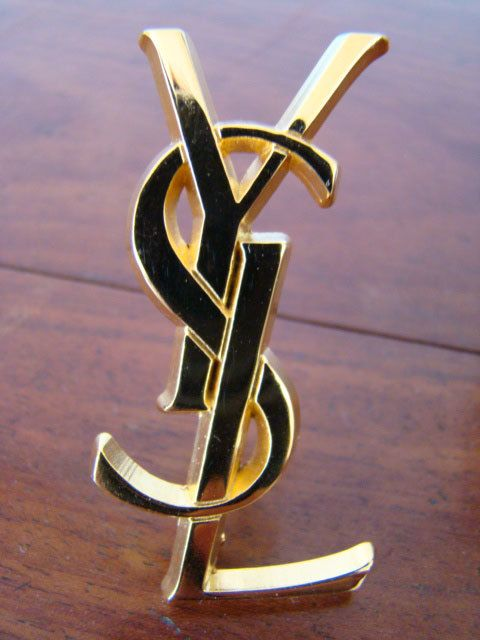 2244a878ea4 Vintage YSL brooch Brooch Men, All That Glitters, Ysl, Etsy Vintage, Gold