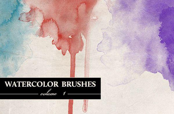 50 Hi Res Watercolor Photoshop Brushes Photoshop Brushes