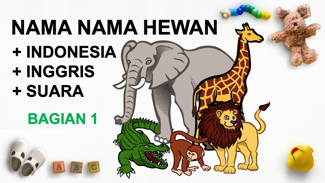 Nama Hewan Dalam Bahasa Inggris Dan Suara Binatang Hewan Gambar Hewan Binatang