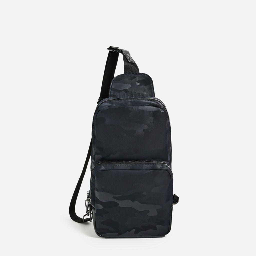 400772c779 ZARA - MAN - BLACK CROSSBODY SLING BAG | Men's fashion | Black cross ...