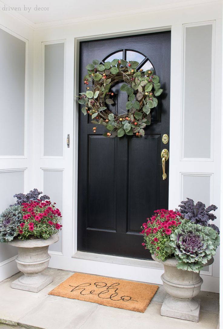 planters porch lovely for front pots of ideas flower pot christmas
