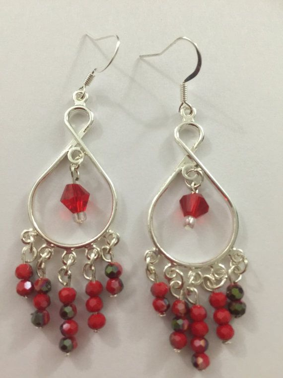 Red crystal chandelier earring by antras on etsy red earring red crystal chandelier earring by antras on etsy aloadofball Gallery