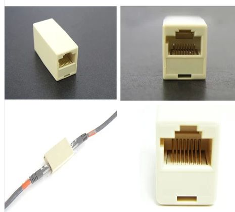 50pcs Pack Rj45 Cat5 Coupler Plug Network Lan Cable Extender Connector Adapter Factory Price Rj45 Plugs Connector