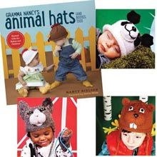 Gramma Nancy's Animal Hats (And Booties, Too) Book/Booklet - Willow Yarns