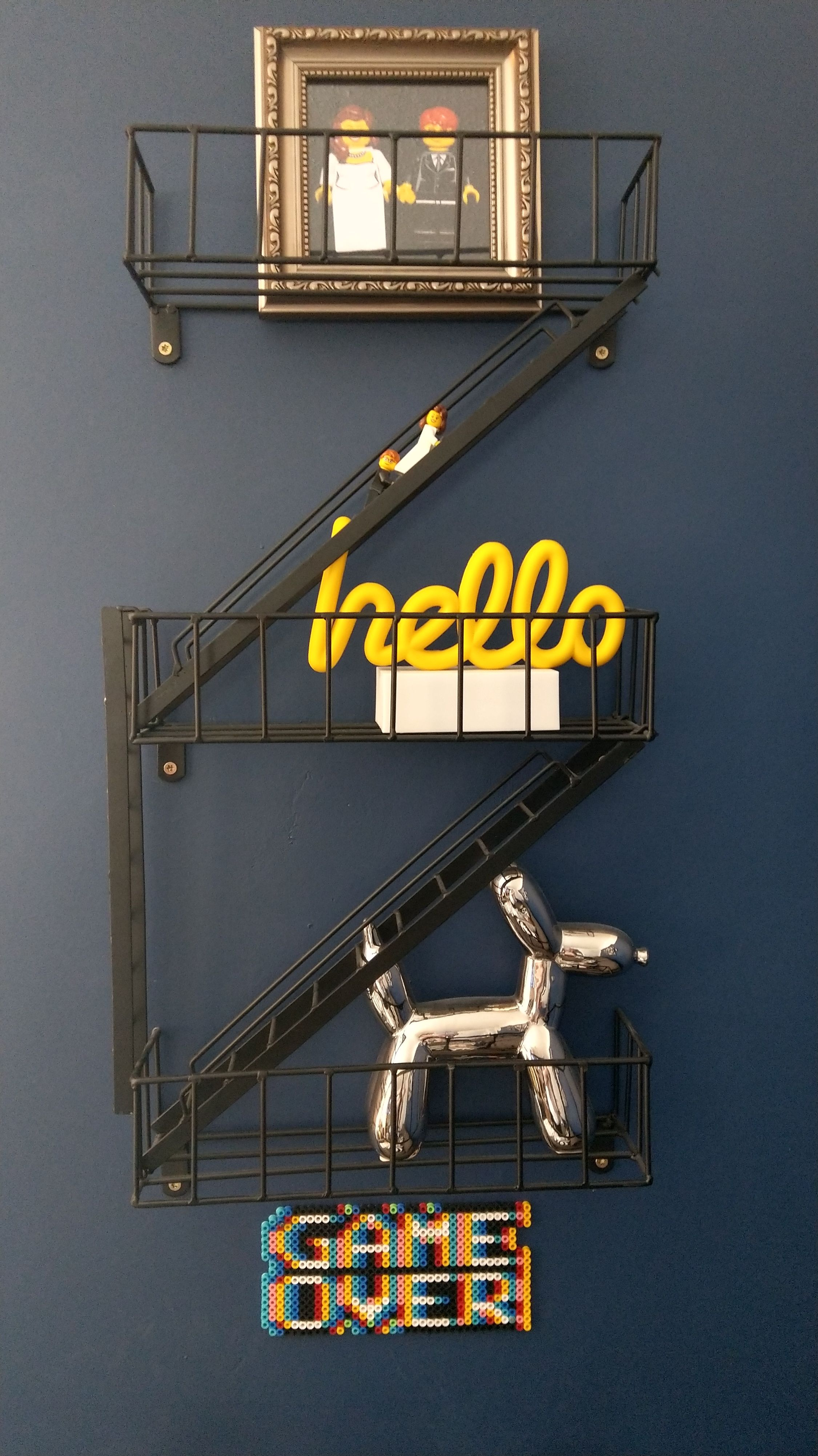 Best Details About Novelty Fire Escape Black Floating Wall 400 x 300