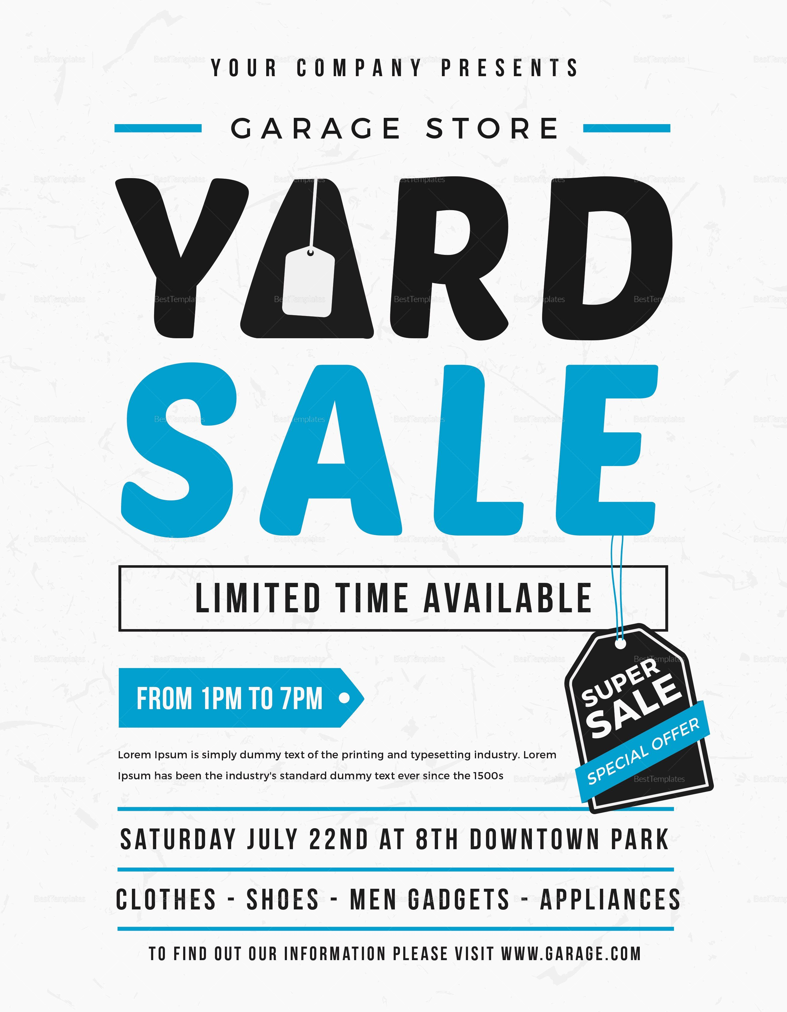 Garage Sale Flyer Template Free Lovely Unique Yard Sale Flyer Design Template In Word Psd Illustrator Publisher Sale Flyer Flyer Template Flyer