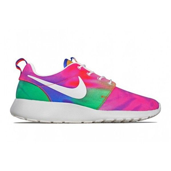 e4bcdf8f5ce44 NIKE ROSHE RUN (TIE-DYE) Sneaker Freaker ❤ liked on Polyvore featuring shoes