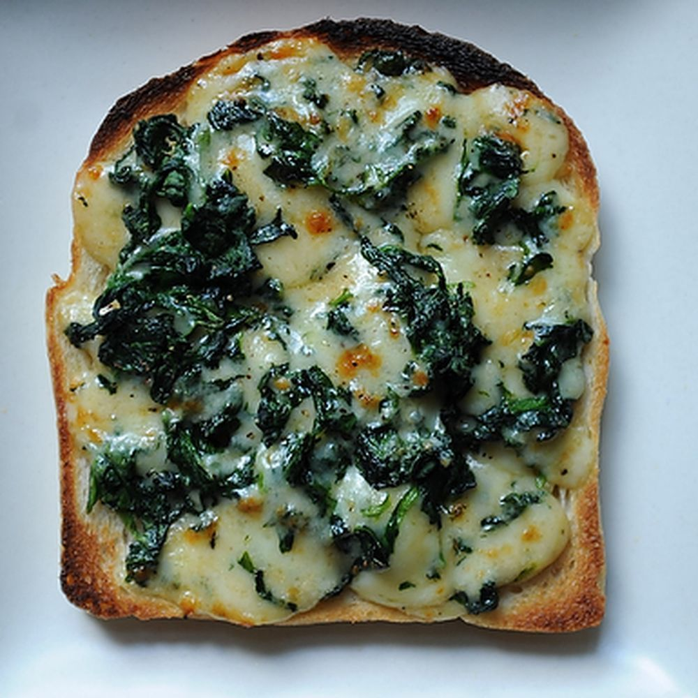 Welsh Rarebit with Spinach Recipe on Food52