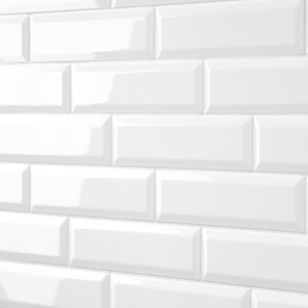 bright white subway tile